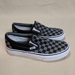 Vans Classic Slip on Black White Checkers Wmn 8.5